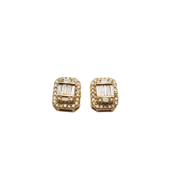 Baguette Emerald-Shape Diamond Earring (14K)