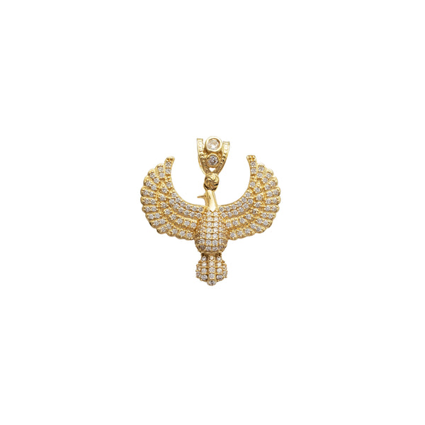 Iced-Out Eagle Pendant (14K)