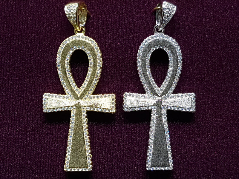 Icy Edge Ankh Pendant Silver - Lucky Diamond 恆福珠寶金行 New York City 169 Canal Street 10013 Jewelry store Playboi Charlie Chinatown @luckydiamondny 2124311180