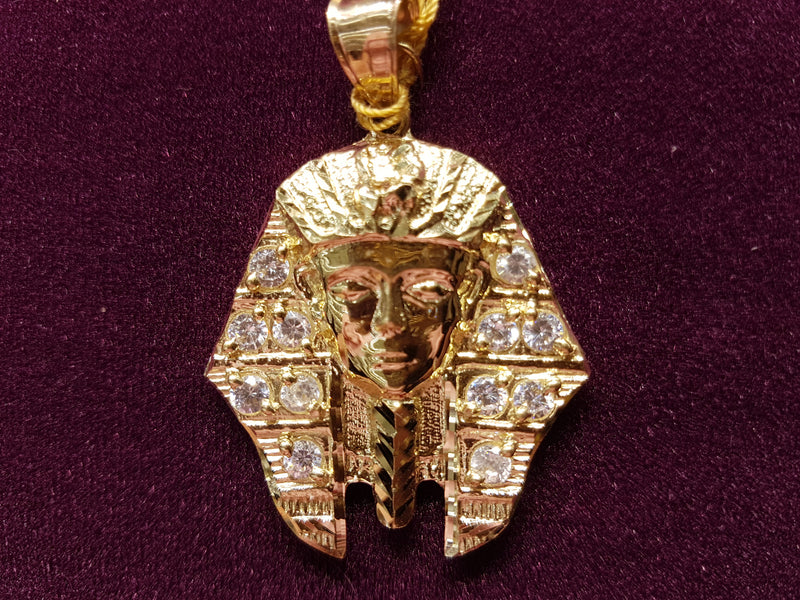 Iced-Out Pharaoh Bust Pendant 10K - Lucky Diamond 恆福珠寶金行 New York City 169 Canal Street 10013 Jewelry store Playboi Charlie Chinatown @luckydiamondny 2124311180