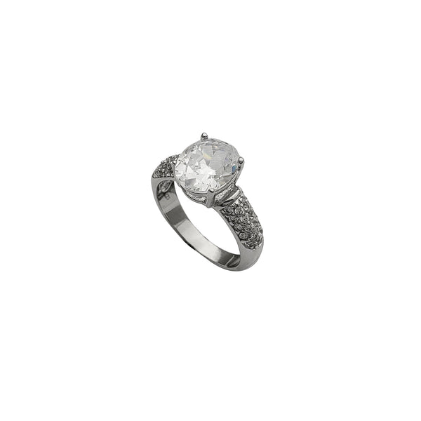 Engagement Cz Ring (Silver)