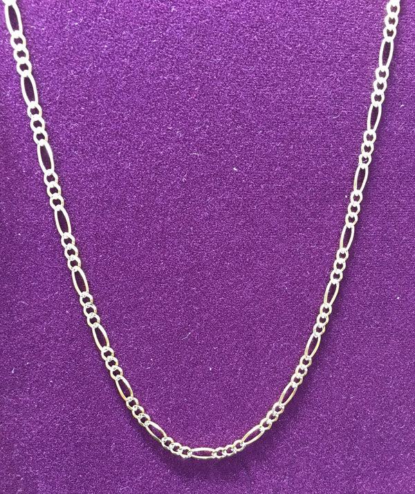 Two-Tone Figaro Chain 10K Solid - Popular Jewelry