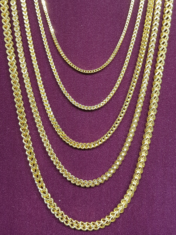 Lightweight/Hollow Franco Chain 14K