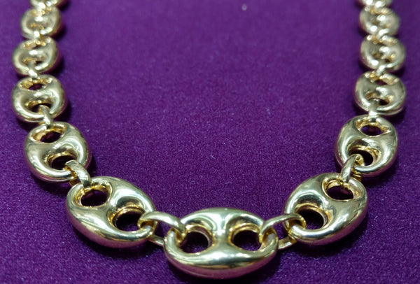 Gucci Link Chain >> Puffy Gucci Link Necklace 14k