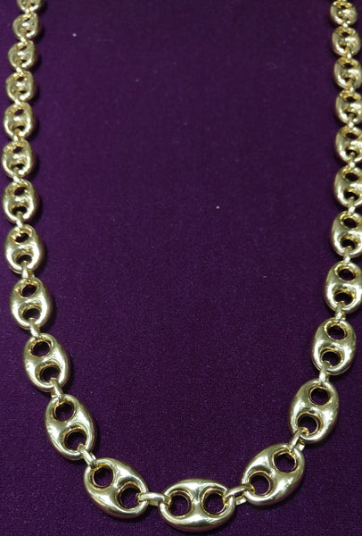 2708b5d38 Puffy Gucci Link Necklace 14K – Popular Jewelry