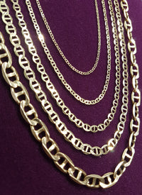 Guksi Mariner Flat Link Chain 14K - Popular Jewelry