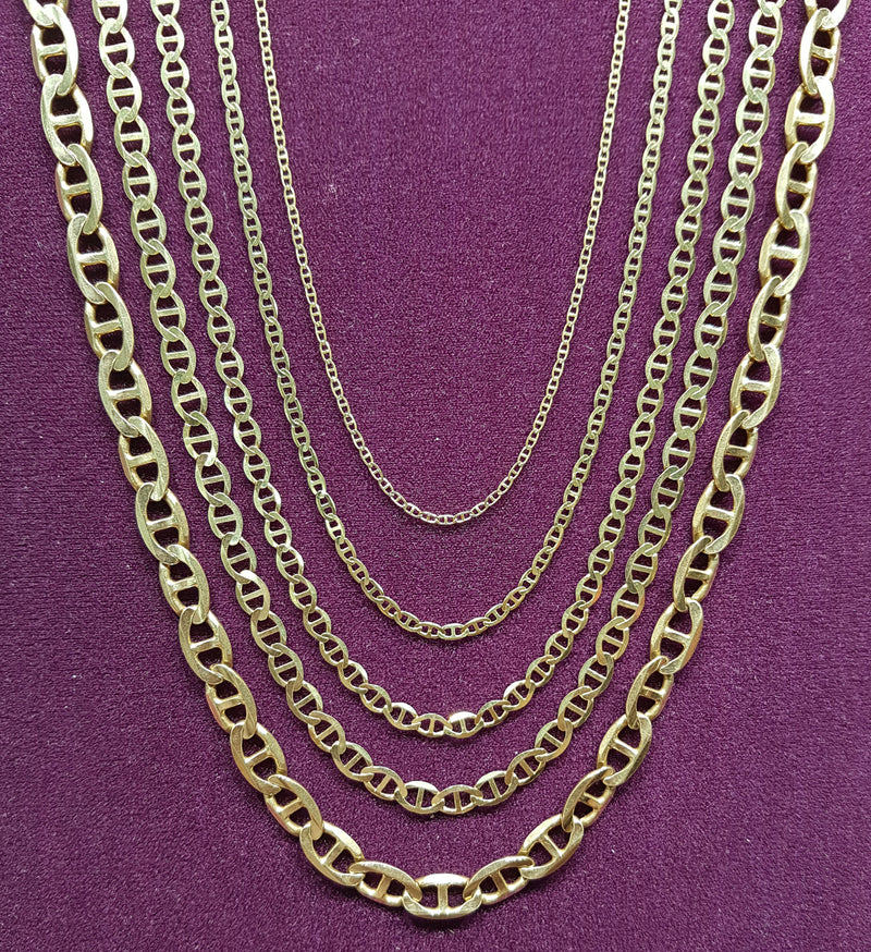 Gucci Mariner Flat Link Chain 14K - Popular Jewelry