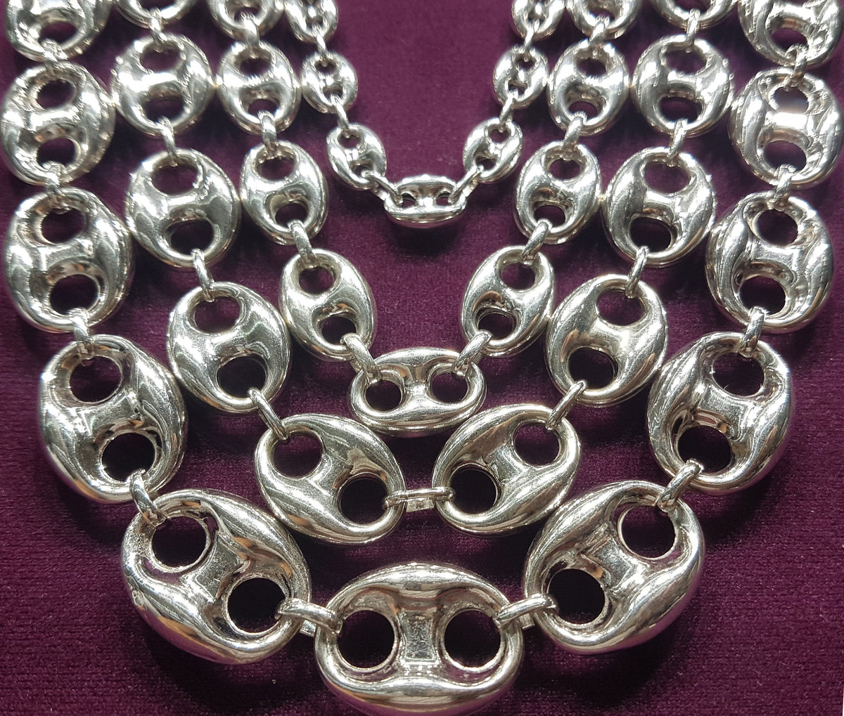 640948e0be1 Puffy Gucci Mariner Link Chain Silver – Popular Jewelry