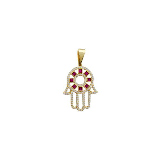 Iced-Out Hamsa Pendant (14K)