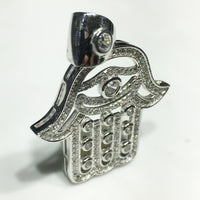 Hamsa privjesak Sterling Silver CZ - Popular Jewelry