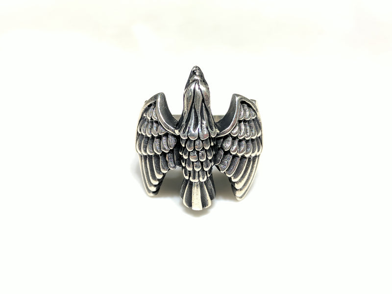 Antique Eagle Ring (Silver) - Popular Jewelry