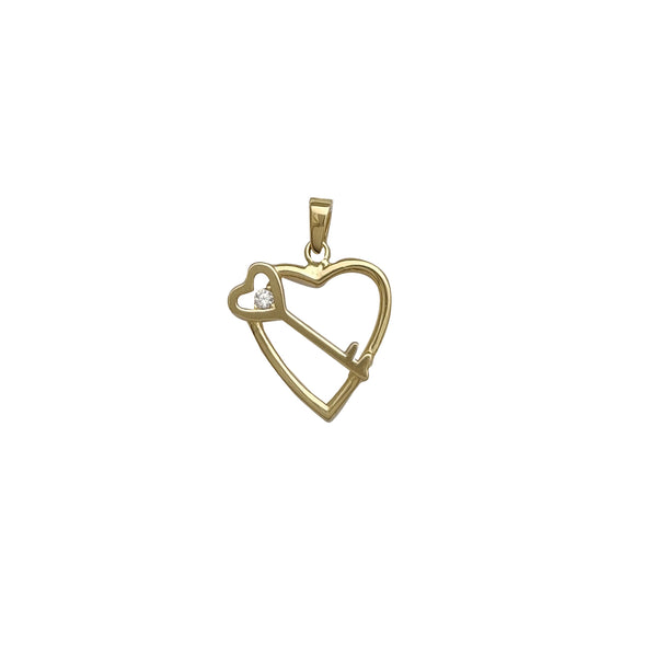 Heart and Key Pendant (14K)