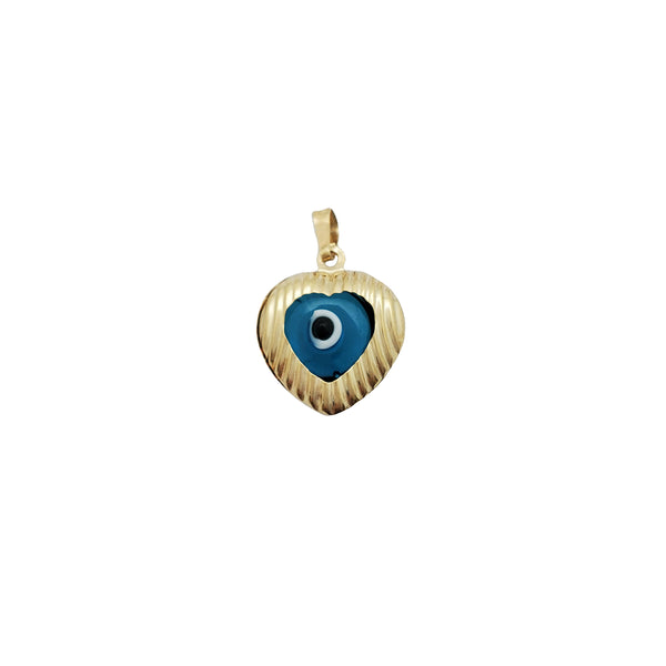 Evil Eye Heart Pendant (14K)