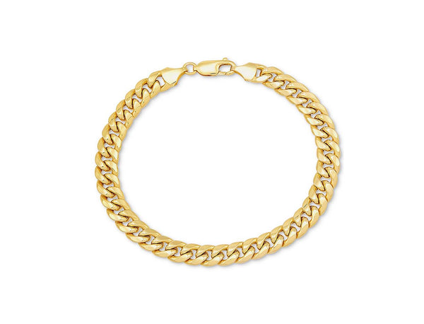 Hollow Lobster Lock Cuban Bracelet (14K)