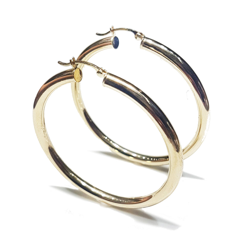 Hoop Earrings (Plain) 14K