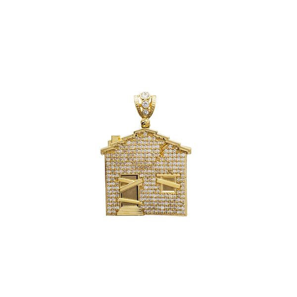 Iced-Out House Pendant (14K)