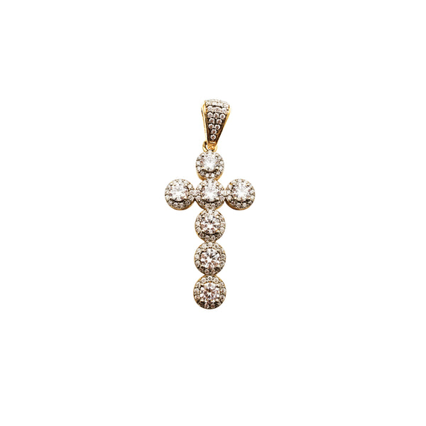 Iced-Out Cross Pendant (14K)
