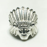 Indian's Head Herenring (Sulver) - Popular Jewelry