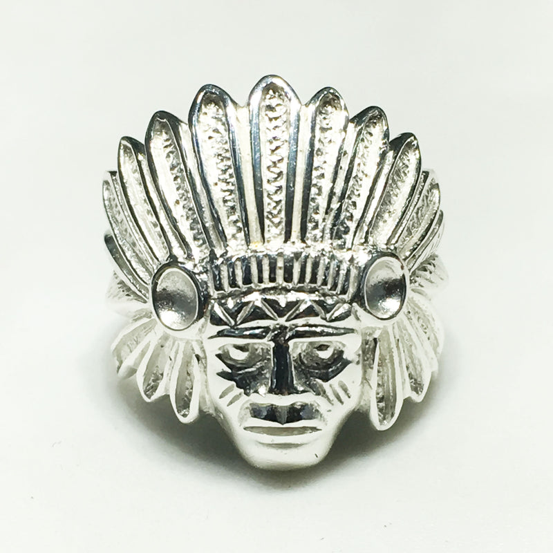 Indian's Head Men's Ring (Silver) - Popular Jewelry