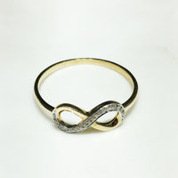 Diamond Infinity -merkkisormus 14K - Popular Jewelry