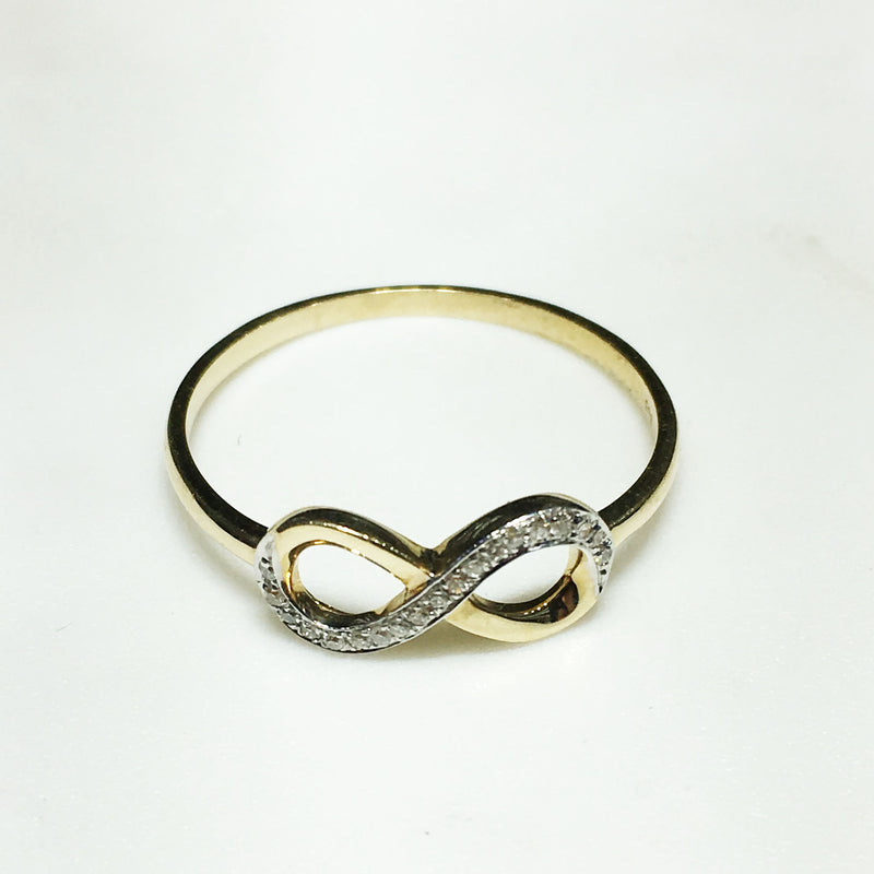 Diamond Infinity Symbol Ring 14K - Popular Jewelry