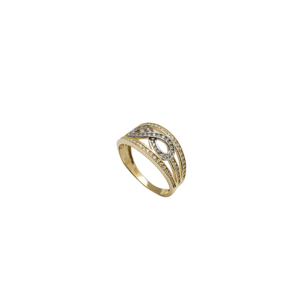 Two-Tone Enveloped Infinity Ring (14K)