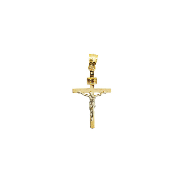 Plain Jesus Cross Pendant (14K)