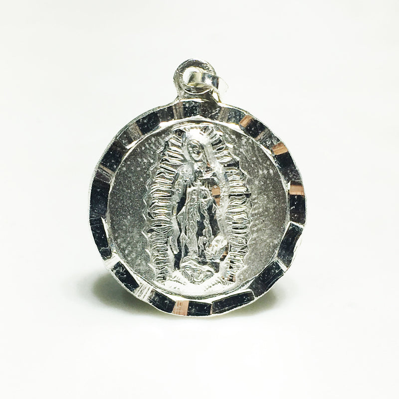 Jesus/Mary Double-Sided Medallion Pendant SIDE 2 (Silver) - Popular Jewelry