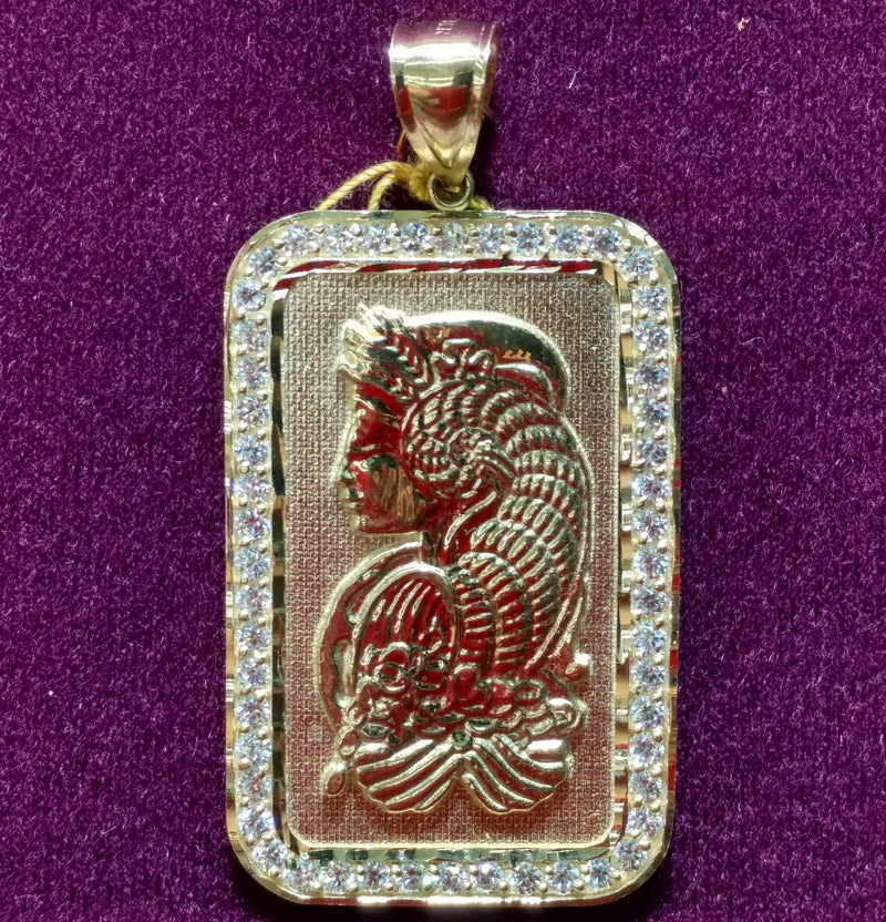 Lady Fortuna CZ Pendant - Lucky Diamond 恆福珠寶金行 New York City 169 Canal Street 10013 Jewelry store Playboi Charlie Chinatown @luckydiamondny 2124311180