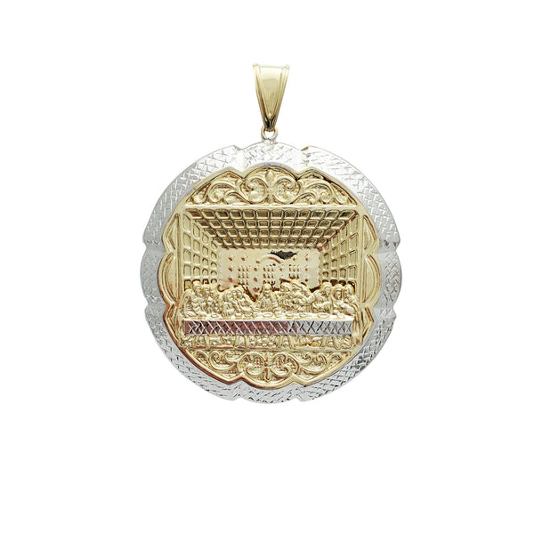 Lightweight Closed-Back Last Supper Pendant (14K)