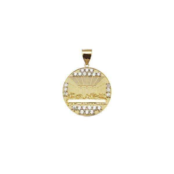 Last Supper CZ Medallion Pendant (14K)