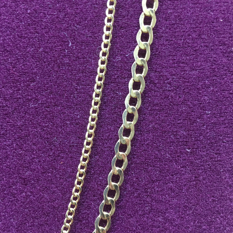 Lightweight Flat-Link Cuban Chain 14K - Popular Jewelry