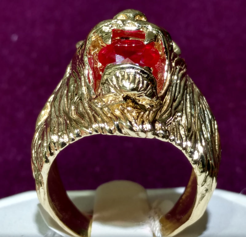 Lion Head Men's Ring 14K - Lucky Diamond 恆福珠寶金行 New York City 169 Canal Street 10013 Jewelry store Playboi Charlie Chinatown @luckydiamondny 2124311180