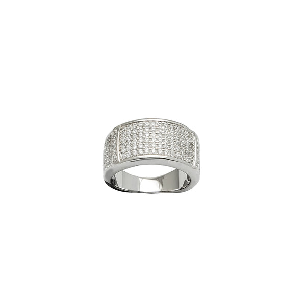 Iced-Out Wedding Ring (Silver)