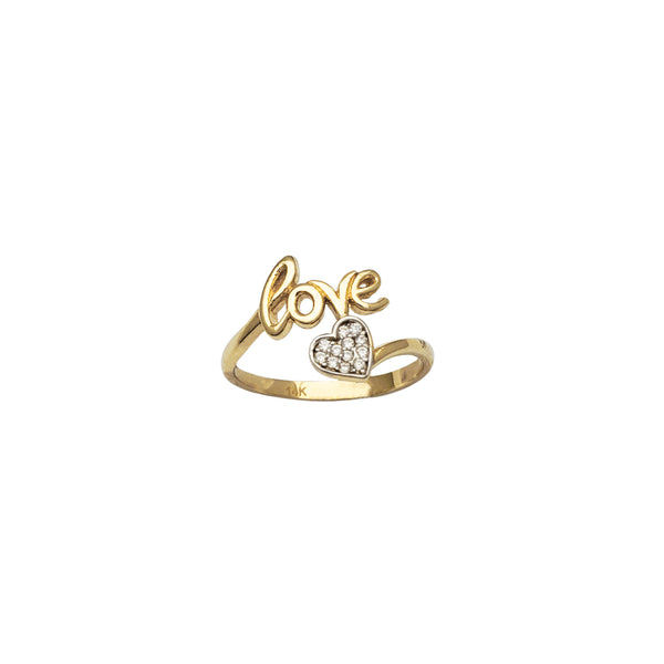 Love & Heart Bypass Ring (14K)