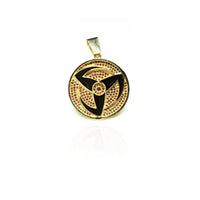 Diamond Mangekyou Sharingan Obito Pendant (14K) Popular Jewelry New York