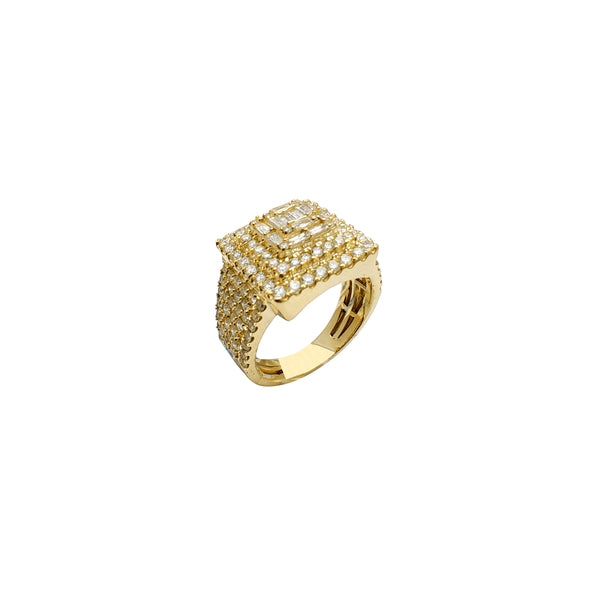 Diamond Square Men Rings (14K)