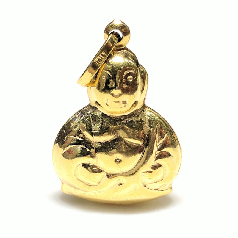 Mini Buddha Pendant 14K Gold - Popular Jewelry