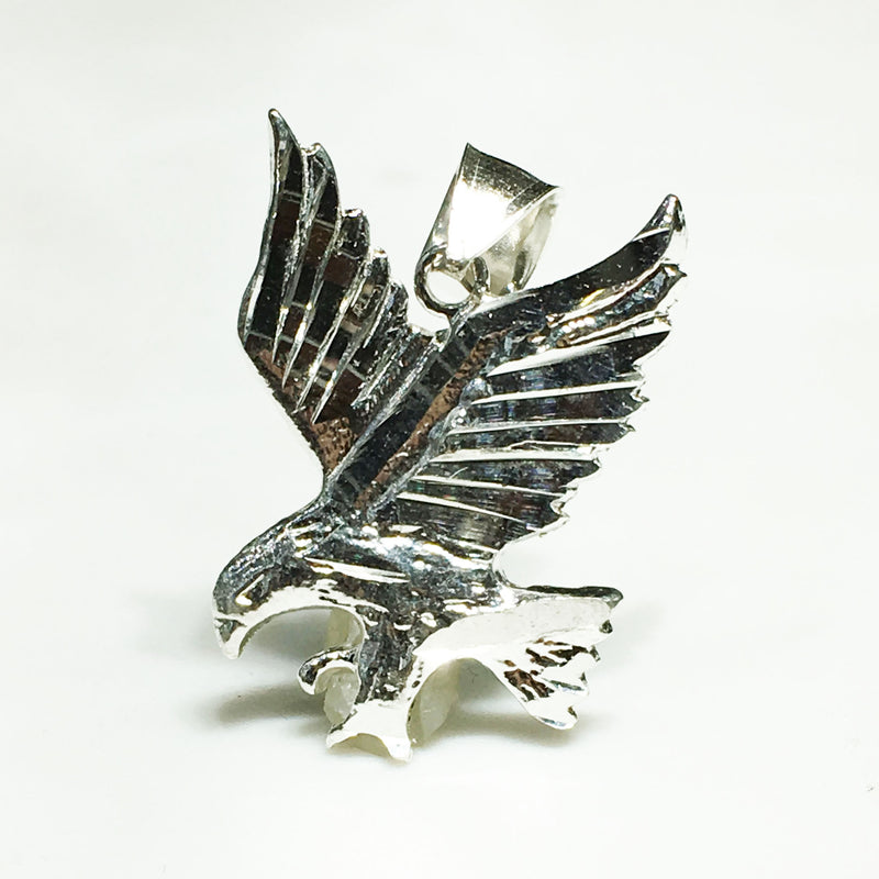 Miniature Bird of Prey Pendant (Silver) - Popular Jewelry