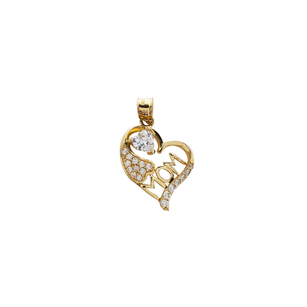 Mom's Heart Pendant (14K)