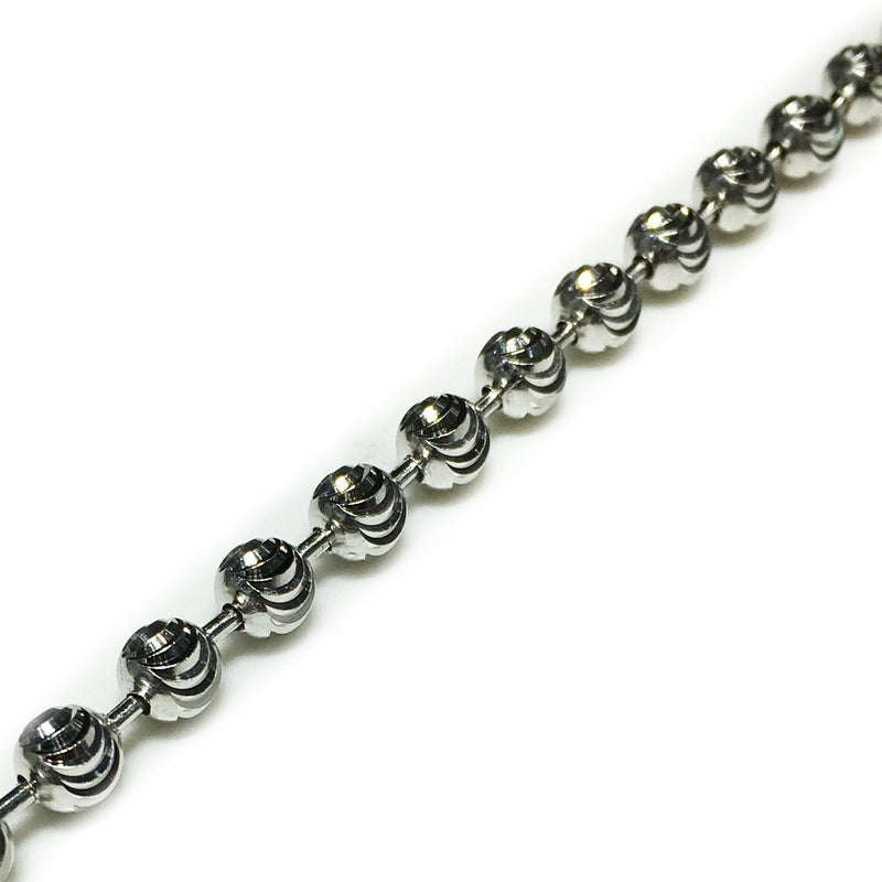 Crescent-Cut Ball Chain (Silver)