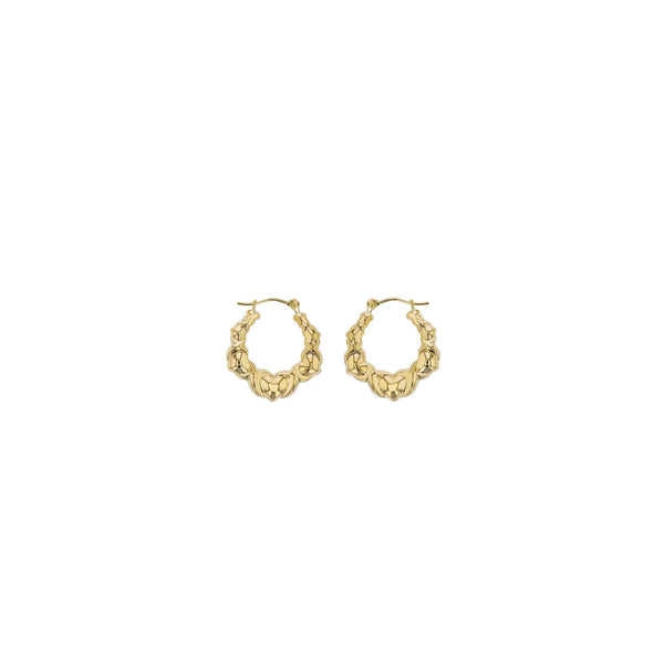 Multiple Heart Hoop Earrings (14K)