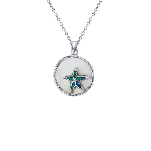 Blue Starfish Necklace (Silver)
