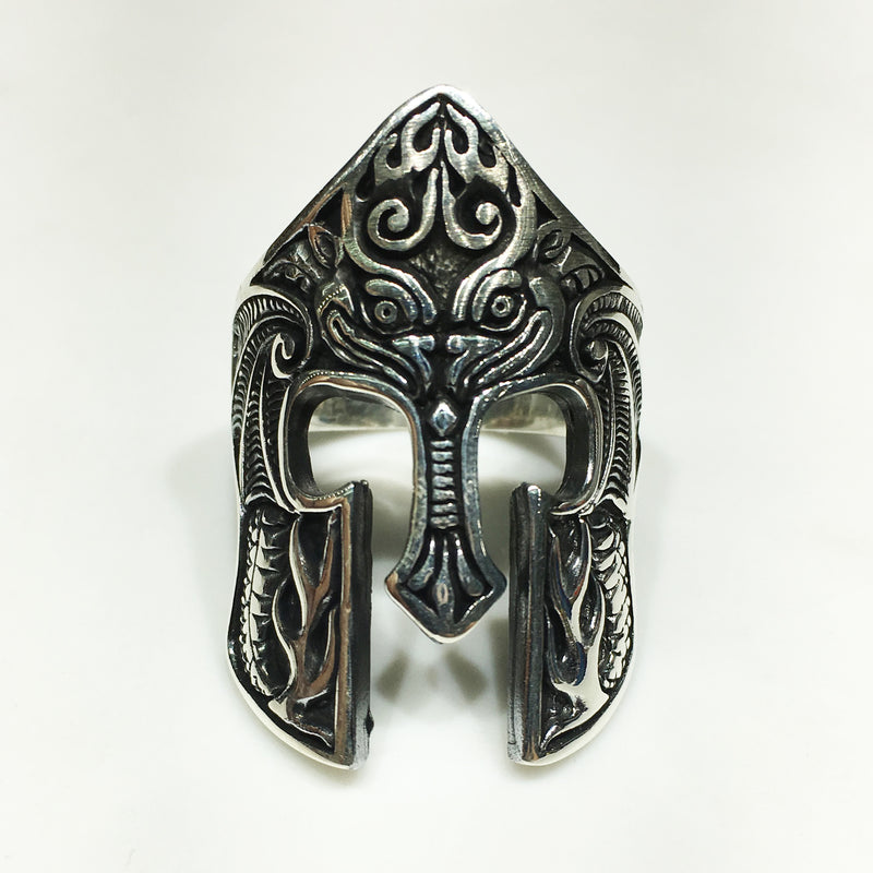 Medieval Barbute Helmet Ring (Silver) - Popular Jewelry