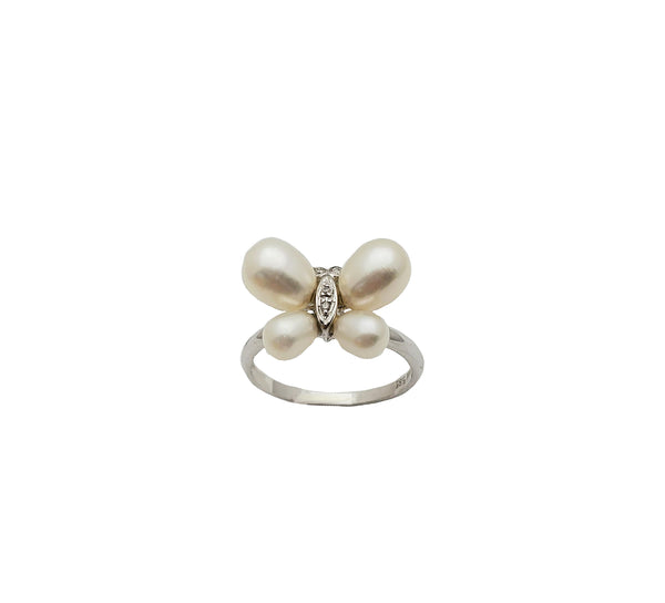 Butterfly Pearl Ring (14K)