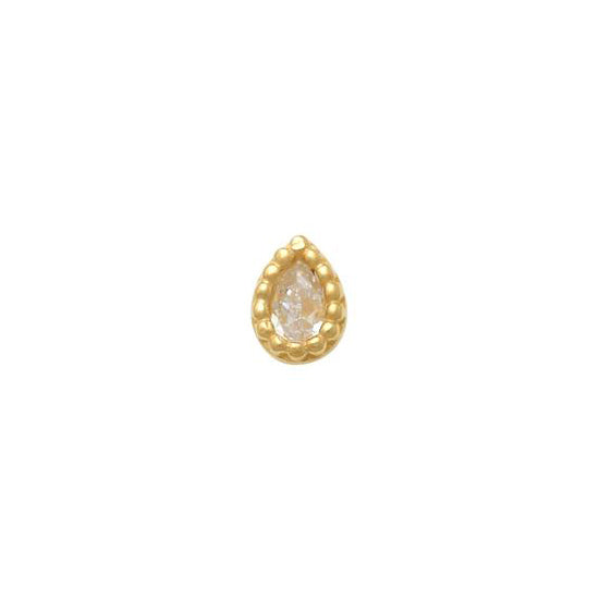 Pear Nose Ring (14K)