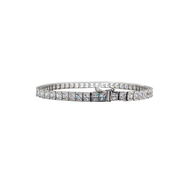 Princess-Cut Tennis Bracelet (14K)