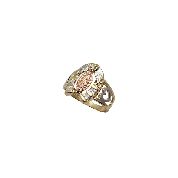 Tricolor Horseshoe Guadalupe Ring (14K)