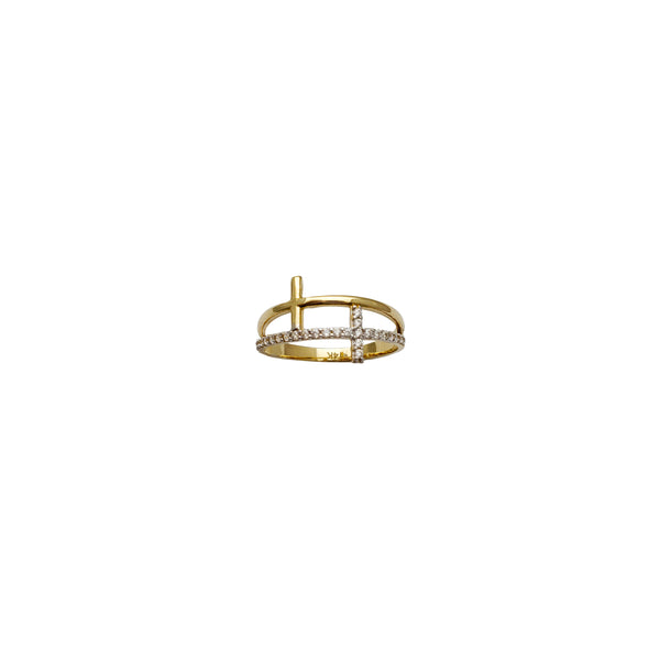 Double Cross Ring (14K)