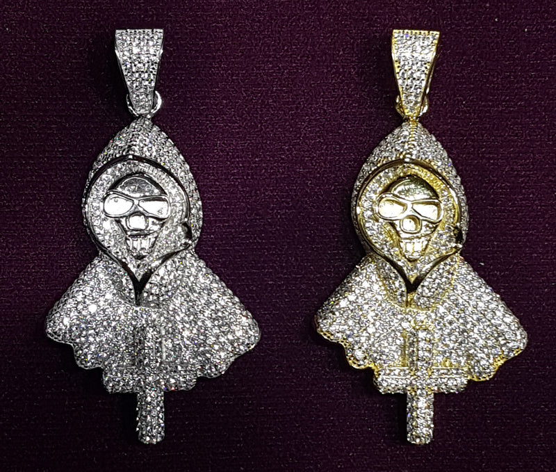Hooded Death Pendant Silver